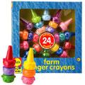 歡樂農場手指蠟筆(24色)